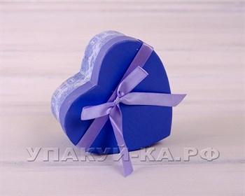 Коробка подарочная  Голубой цветок, синяя с голубым, разные размеры