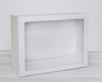 Коробка с прозрачным окошком 40х30х12, белая