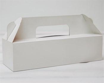 Коробка сундучок с ручками, 27,5х9х7,5 см, белая