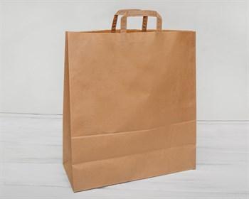 Крафт пакет бумажный, 48х44,5х18 см, с плоскими ручками, коричневый