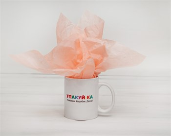 Бумага тишью, персиковая, 50х66 см