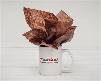 Бумага тишью, шоколад, 50х66 см
