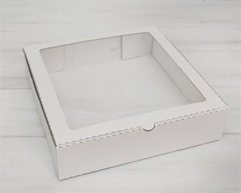 Коробка с окошком, 28х28х7 см, белая