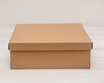 Коробка из плотного картона, 33х31х11,5 см, крышка-дно, крафт