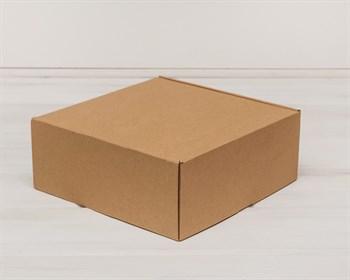 Коробка для посылок, 25х25х10 см, из плотного картона, крафт