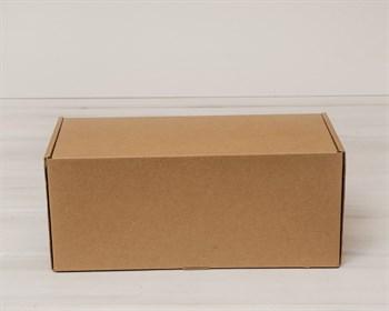 Коробка для посылок, 32х14х14 см, из плотного картона, крафт