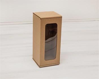 Коробка для кукол, с  окошком, 20х9х9 см, крафт