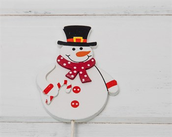 "Топпер "" Снеговик в шарфе"""