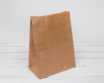Крафт пакет бумажный, 29х22х12 см, коричневый