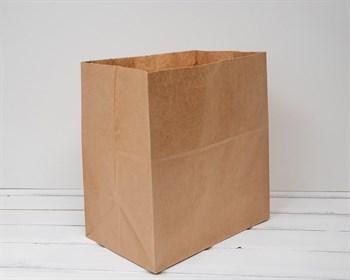 Крафт пакет бумажный, 34х32х20 см, коричневый