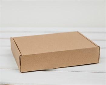 Коробка 20х15х4,5 см из плотного картона, крафт
