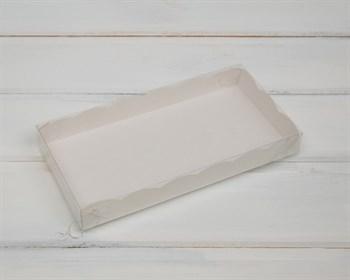 Коробка с прозрачной крышкой  Ажурная, 20х10х3 см,  белая