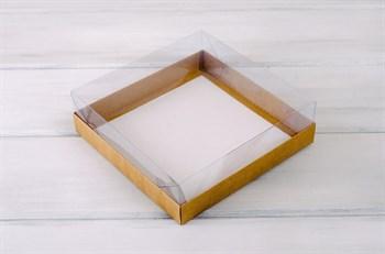 Коробка с прозрачной крышкой Классика, 20х20х6 см, двусторонняя