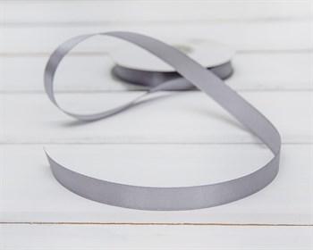 Лента атласная, 12 мм, светло-серая, 1 м