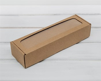 Коробка для  Вкусной  ложки, 25х8х5 см, с прозрачным окошком, крафт