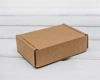 Коробка маленькая, 10х7,5х3 см, из плотного картона, крафт