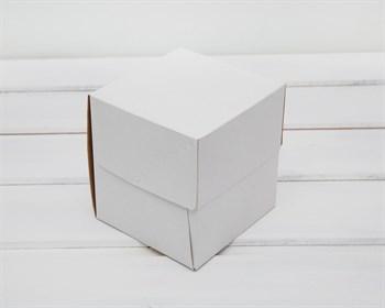 Коробка для капкейков/маффинов на 1 шт, 10х10х11 см, белая