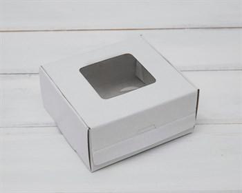Коробка для выпечки и пирожных, 10,5х10х5 см, белая