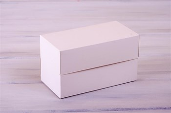 Коробка для капкейков/маффинов на 2 шт, 19х10х11 см, белая