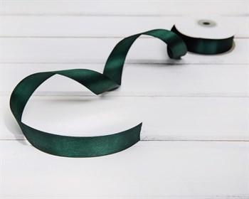 Лента атласная, 24 мм, темно-зеленая, 1 м