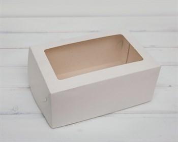 Коробка для выпечки, 25х16х11 см, с прозрачным окошком, белая