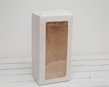 Коробка для выпечки и пирожных, 33х16х11 см, с прозрачным окошком, белая
