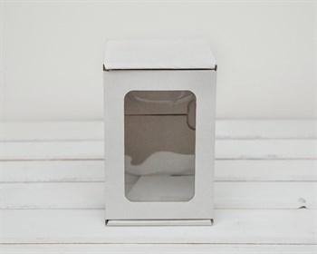 Коробка с окошком, 16х11х11 см, из плотного картона, белая