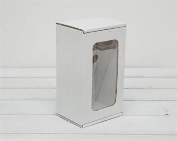 Коробка с окошком, 17х10х8 см, из плотного картона, белая