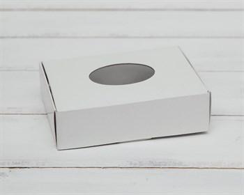 Коробка маленькая с окошком, 12х9х3,5 см, белая