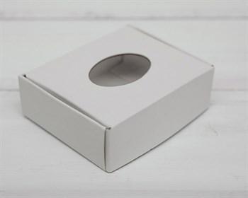 Коробка маленькая с окошком, 7х6х2,5 см, белая