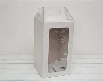 Коробка для кукол, с окошком и ручкой, 36х20х20 см, белая