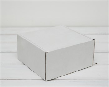 Коробка для посылок, 15х15х8 см, из плотного картона, белая