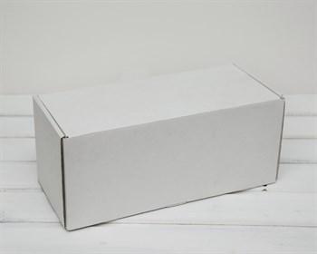 Коробка для посылок, 32х14х14 см, из плотного картона, белая