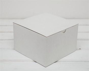 Коробка для посылок, 17х17х11 см, из плотного картона, белая