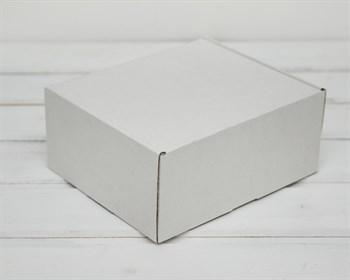 Коробка для посылок, 19х16х8,5 см, из плотного картона, белая