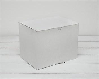 Коробка для посылок, 21х16х15 см, из плотного картона, белая