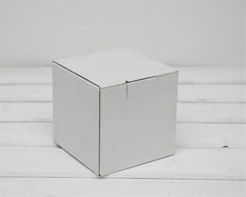 Коробка для посылок, 12х12х12 см, из плотного картона, белая