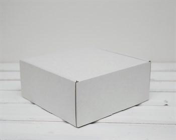 Коробка для посылок, 20х20х9 см, из плотного картона, белая