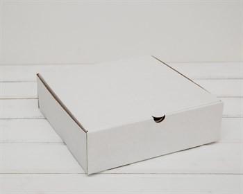 Коробка для пирога 23х23х7 см из плотного картона, белая