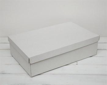Коробка из плотного картона, 42,5х27х11 см, крышка-дно, белая