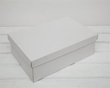 Коробка из плотного картона, 33,5х22х11,5 см, крышка-дно, белая