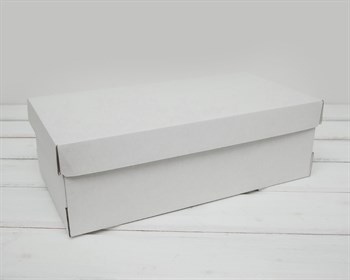 Коробка из плотного картона, 30,5х16х10 см, крышка-дно, белая