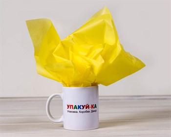 Бумага тишью, лимонная, 50х66 см