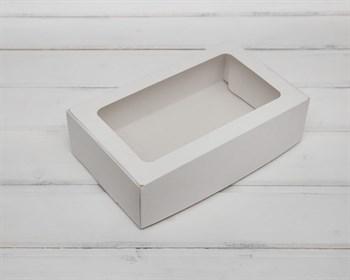 Коробка для выпечки, 23х14х6,5 см, с прозрачным окошком, белая