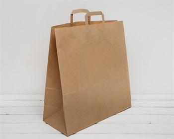 Крафт пакет бумажный, 45х44,5х18 см, с плоскими ручками, коричневый