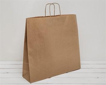 Крафт пакет бумажный, 45х48х12 см, с кручеными ручками, коричневый