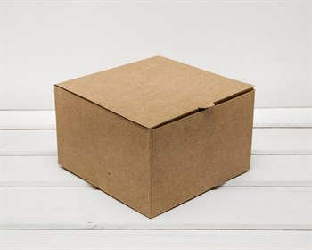 Коробка для капкейков/маффинов на 4 шт, из плотного картона, 16х16х10 см, крафт ( БЕЗ ЛОЖЕМЕНТА)