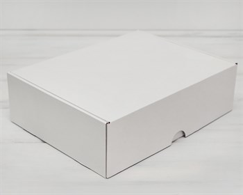 УЦЕНКА Коробка для посылок, 35х26,5х10 см, из плотного картона, белая