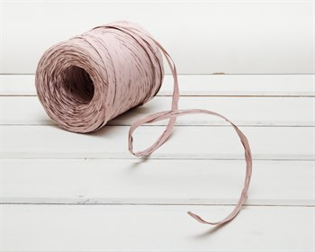 Рафия 15 мм, пыльная роза, 3 м
