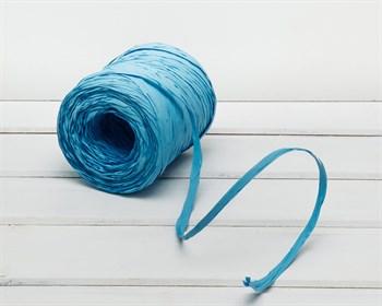 Рафия 15 мм, голубая, 3 м
